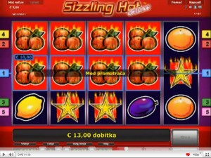 online casino dealer sizzling hot