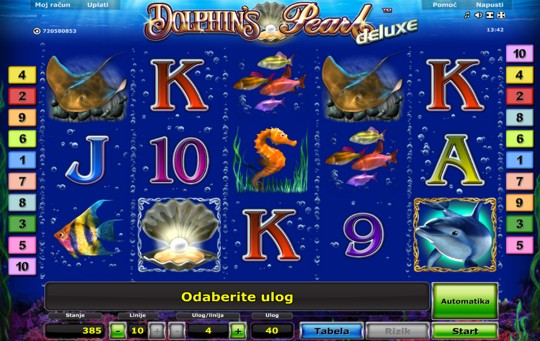 Dolphins Pearl deluxe slot holds secrets of the deep...